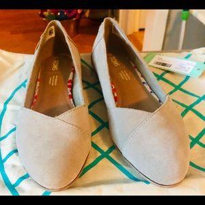 Women's Tom's Julie Suede Dress Flat Shoes
